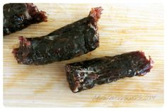 December 2013 Carnivore Club: Duck Jerky Sticks. The Duck Jerky Sticks taste surprisingly good, but I prefer sliced jerky versus sticks because it's more tender. Price: USD $50.00/month -- #snacks #meat #kitchen #charcuterie #jerky #subscriptionbox #foodie #food #carnivoreclub