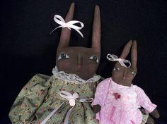 Pattern for Primitive folk art doll  Easter by Dumplinragamuffin