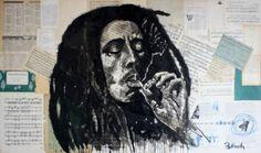 """Saatchi Online Artist Atelier Palluch; Painting, """"Bob Marley #1"""" #art"""