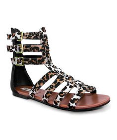 Leopard Sonia Cage Sandal by Groove Footwear #zulily #zulilyfinds