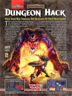 Dungeon Hack (DOS) – http://www.megalextoria.com/wordpress/index.php/2017/01/01/dungeon-hack-dos/