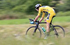 Maillot jaune Chris Froome (Sky) en route to his third stage victory of the 2013 Tour de France