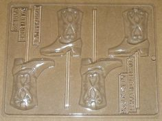 cowboy candy molds | Cowboy Boot Lollipop Mold For Chocolate