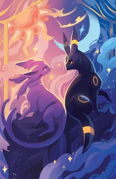 #Pokédex (196) Espeon & (197) Umbreon