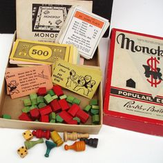 CIJ Sale Vintage Monopoly Vintage Monopoly Game by WhimzyThyme Monopoly Game, Old Games, Family Game Night, Game Pieces, Christmas Toys, Retro Chic, Vintage Ephemera, Childhood Memories, Kids Toys