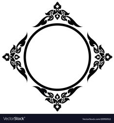 Circle frame of thai pattern Royalty Free Vector Image Thai Pattern, Pattern Art, Hello Wallpaper, Ornament Drawing, Hand Embroidery Patterns Flowers, Islamic Art Pattern, Shirt Print Design, Borders And Frames, Islamic Art Calligraphy