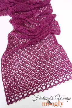 Crochet Moogly's gorgeous new shawl pattern: Fortune's Wrap. Make this goddess wrap with LB Collection Superwash Merino and a size L (8 mm) crochet hook.