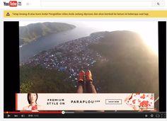 Paragliding at Sangihe island