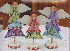 Set of 12 pieces of wood for Winter Tree Angels