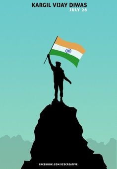Kargil Vijay Diwas Poster - Vijay S Paul Poster On Independence Day, Independence Day Drawing, Indian Independence Day, Happy Independence, Indian Flag Wallpaper, Indian Army Wallpapers, Lion Wallpaper, Ocean Wallpaper, Army Drawing