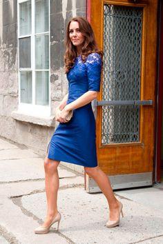 Kate Middleton cobalt blue lace dress