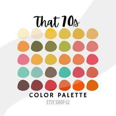 Retro Color Palette, Warm Colour Palette, Warm Colors, Vibrant Colors, Movie Color Palette, Coral Colour, Colorful, 70s Aesthetic, Aesthetic Colors