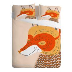 Mummysam Mr Fox Sheet Set | DENY Designs Home Accessories