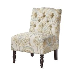 Lola Floral Chair Madison Park Arm Chairs Accent Chairs Accent Furniture