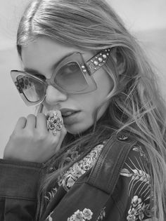 """vogue-at-heart: """"Stella Maxwell for Roberto Cavalli Spring/Summer 2017 Eyewear Photographed by Morelli Brothers """""""