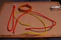 2 color paracord bracelet.