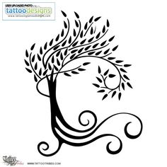 willow tree on wrist maybe?