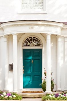 Traditional Front Door with Pathway, Transom window, Raised beds.  Zillow images of various style front, exterior doors and different colors.  Also a curb appeal category.
