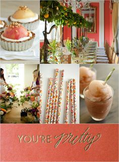 Pretty in Peach #CLEvents blog post for Wedding Wednesday today! We heart peach!