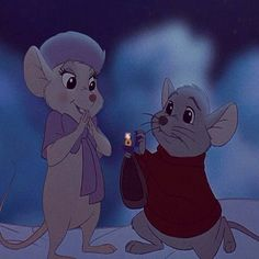 Bernard proposing to Bianca!! <3 I wish Disney would've elaborated more on the wedding.