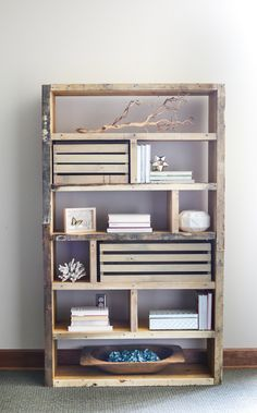 Rustic Pallet Bookshelf by House of Wood