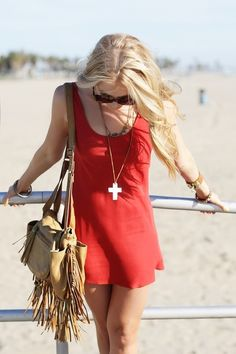 red summer dress ! #SizzlingSummerBling @catalogs