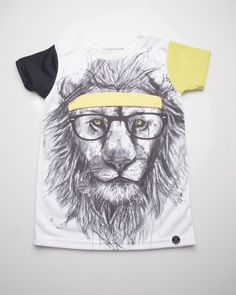 Epic Tee in Hipster Lion Print