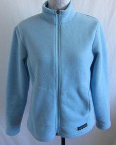 REI Womens Blue Fleece Full Zip Jacket Coat Size M Medium 100% Polyester Outdoor