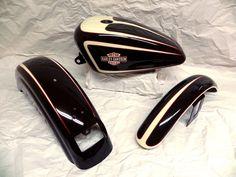 Harley Sportster Gas Fuel Tank Front Rear Fender Set Custom Paint 1996 2003 1465 | eBay