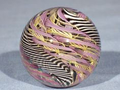 Marbles: Hand Made Art Glass James Alloway Dichroic Supernova.2 #18  1.75inch #Contemporary