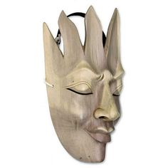 NOVICA Wood mask ($43) ❤ liked on Polyvore featuring home, home decor, balinese traditional masks, beige, masks, wood home decor, novica home decor, novica, wooden home decor and novica masks