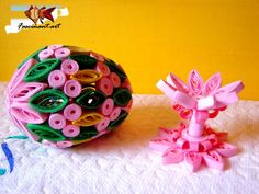Easter Decorations in Quilling Technique