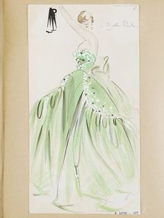 Fashion design by Worth 1953-1954