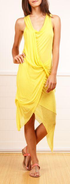Yellow HELMUT LANG DRESS