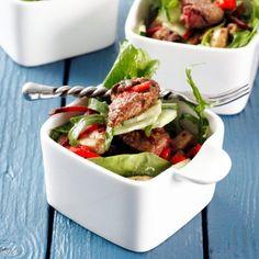Salata de ficatei de pui cu ciuperci si branza
