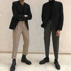 this is namseok Boy Fashion, Korean Fashion, Winter Fashion, Mens Fashion, Fashion Outfits, Streetwear Mode, Streetwear Fashion, Moda Indie, Looks Style