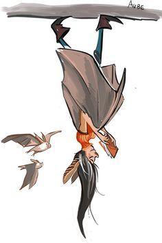 bat lady upside down