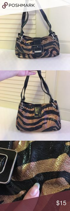 Zebra purse Small handbag. Gold and black zebra stripes. A lot of compartments inside. Bags