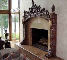 Carved fireplace mantel | CustomMade