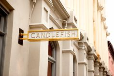 Signage for Candlefish designed by Fuzzco