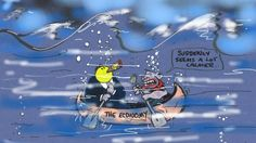 THE LNP ARE SO INCOMPETENT THEY DON'T REALISE THEY ARE DESTROYING THE ECONOMY. THEIR ECONOMIC ILLITERACY IS SINKING AUSTRALIA. Cartoon by ALAN MOIR