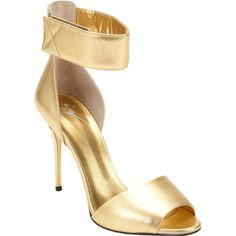 Giuseppe Zanotti Metallic Ankle-Strap Sandals Sale up to 70% off at Barneyswarehouse.com