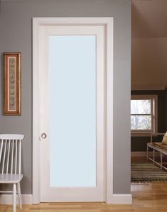 When your décor calls for a painted door with glass, the MDF French Door is the perfect solution. Increase the brightness to any space in your home with it's clean lines and glass. Frosted Glass Door, Sliding Glass Door, Transitional Interior Doors, Internal French Doors, Exterior Doors With Glass, Flush Doors, French Doors Patio, White Laminate, Interior Barn Doors