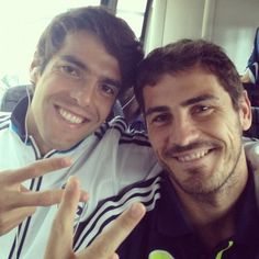 kaka and iker.