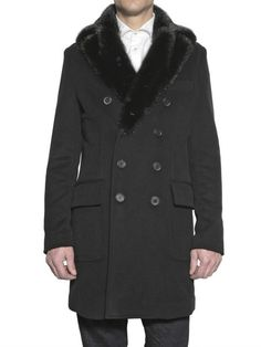 Not leather, but a fab mink collar - Dsquared2