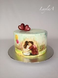 Engagement Cakes, Engagement Ideas, Engagement Parties, Beautiful Cakes, Amazing Cakes, Paint Cookies, Hand Painted Cakes, Unique Prom Dresses, Little Cakes