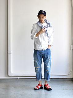 maillot マイヨ b.label dungaree Stand Collar Shirts (ダンガリースタンドカラー) MAS-131