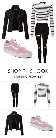 """""""Untitled #47"""" by kacis-kacis on Polyvore featuring Topshop, Miss Selfridge, LE3NO and Vans"""