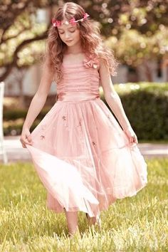 Junior Bridesmaid Dress---I love this! A real fairy princess type little girl bridesmaid. Sparkly Bridesmaid Dress, Lavender Bridesmaid Dresses, Junior Bridesmaid Dresses, Wedding Bridesmaids, Bridesmaid Ideas, Little Girl Dresses, Girls Dresses, Flower Girl Dresses, Flower Girls