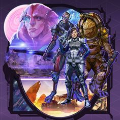"axl99:  ""70s and 80s movie poster-inspired Mass Effect Andromeda fanart #fanart #masseffect #masseffectandromeda #bioware #videogames #conceptart #Art #illustration #artistsoninstagram #artistsontumblr  """